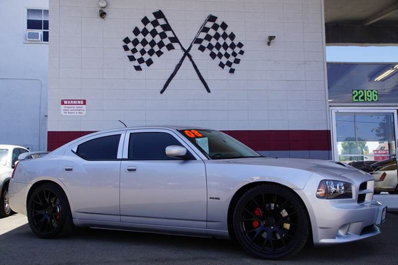 2008 DODGE CHARGER SRT 8 4DR SEDAN bright silver metallic clearco 2-stage unlocking doors abs -