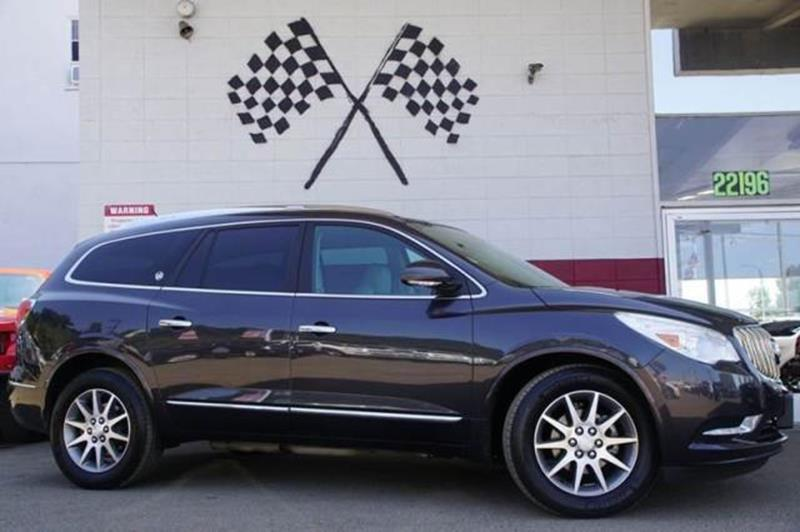 2014 BUICK ENCLAVE LEATHER 4DR CROSSOVER cyber gray metallic delivering a drive thats comfortabl