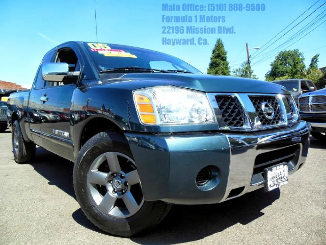 2005 NISSAN TITAN SE KING CAB 2WD green 56l v8 automatic bed liner parking sensors abs brakesa