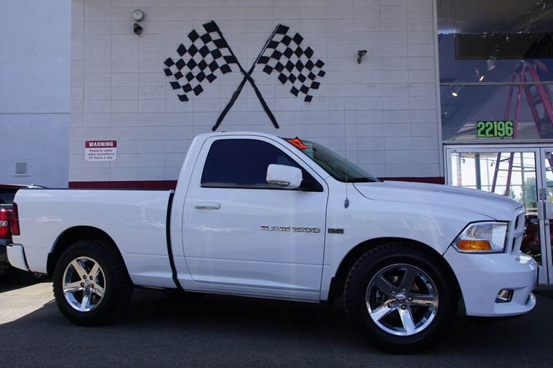 2012 RAM RAM PICKUP 1500 ST 4X2 2DR REGULAR CAB 63 FT S bright white clearcoat abs - 4-wheel a