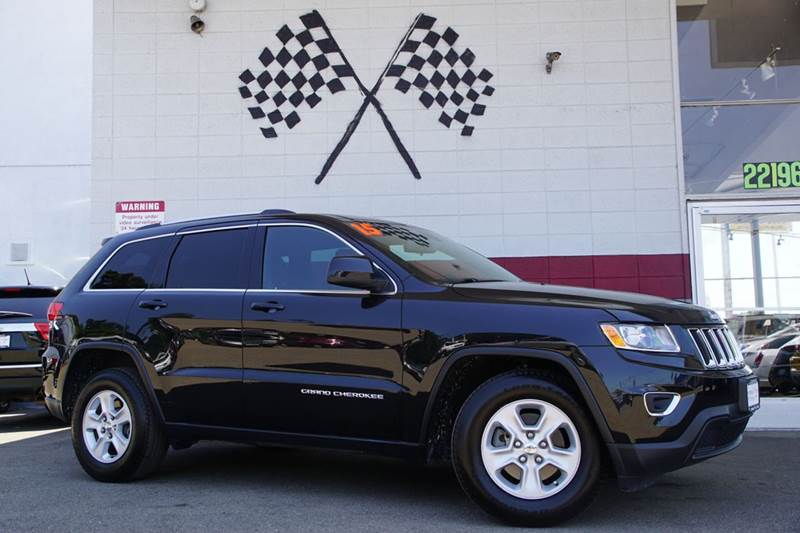 2015 JEEP GRAND CHEROKEE LAREDO 4X2 4DR SUV brilliant black crystal pearlc 2-stage unlocking door
