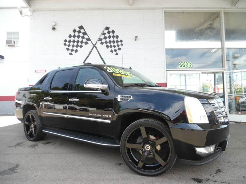 2007 CADILLAC ESCALADE EXT AWD 4DR CREW CAB SB black super clean cadillac escalade ext loaded wit