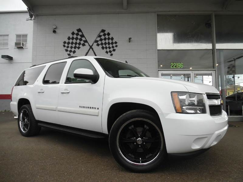 2007 CHEVROLET SUBURBAN LT 1500 4DR SUV white vin 1gnfc16j27j175207 great for families super