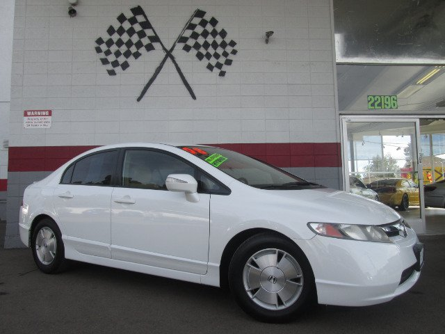 2008 HONDA CIVIC HYBRID SEDAN white 2-stage unlocking - remote abs - 4-wheel air filtration ant