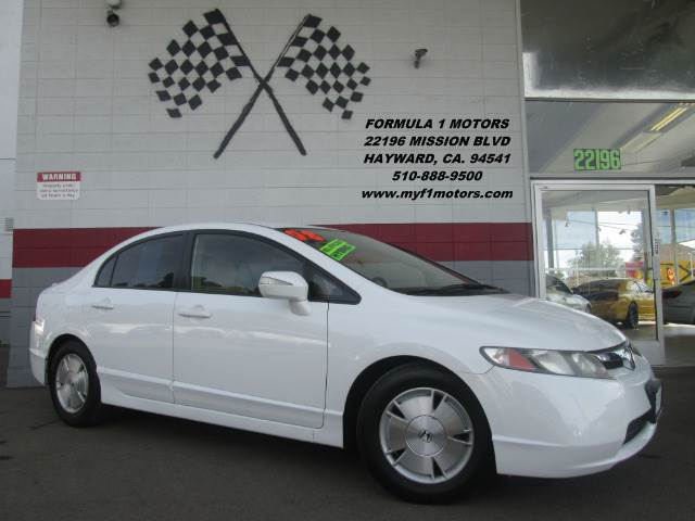 2008 HONDA CIVIC HYBRID SEDAN white this is a very nice honda civic hybrid great for the commute