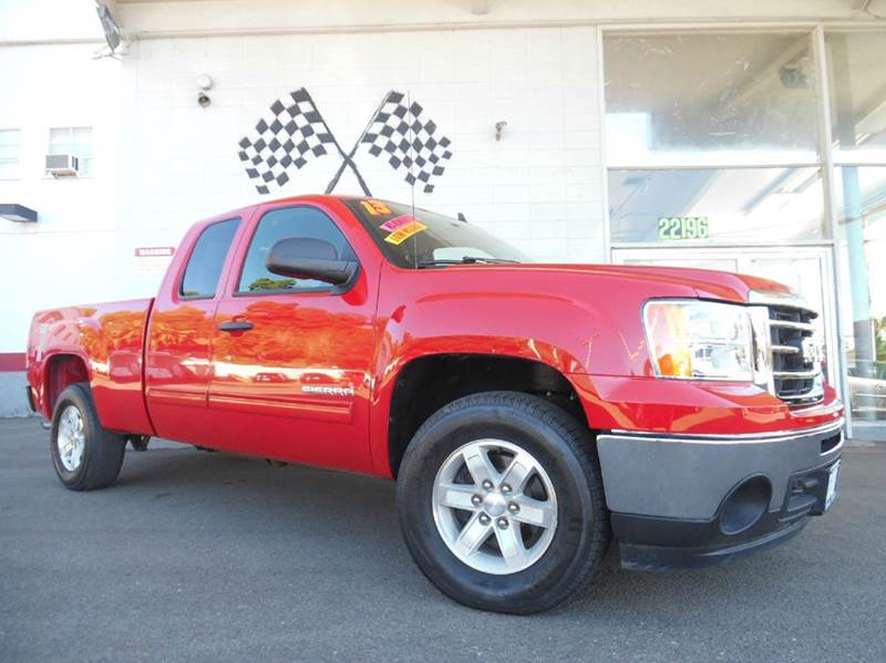 2013 GMC SIERRA 1500 SLE 4X4 4DR EXTENDED CAB 65 FT red vin1gtr2ve73dz272130 this is a very ni