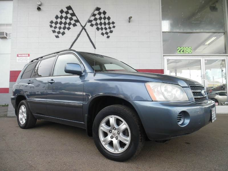 2003 TOYOTA HIGHLANDER LIMITED 4DR SUV blue this is a very nice toyota highlander super clean in