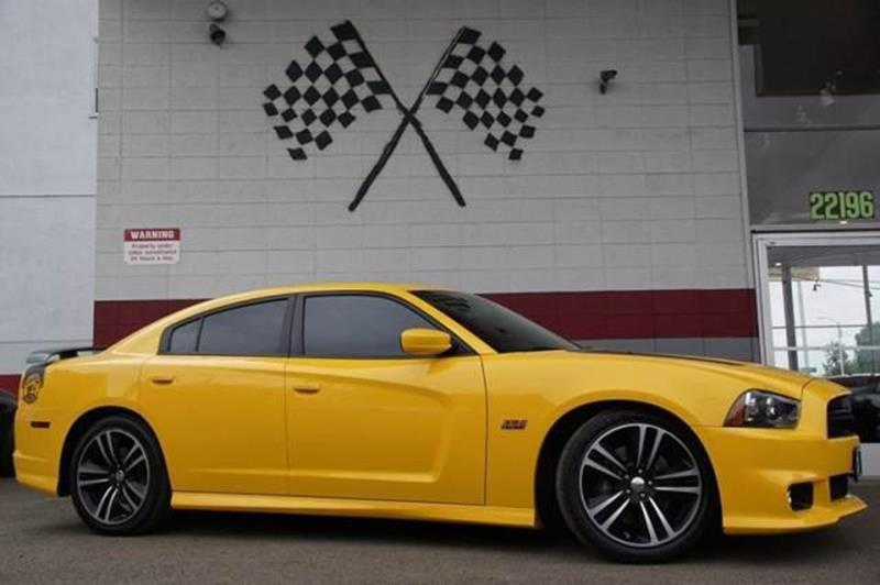 2012 DODGE CHARGER SRT8 SUPER BEE 4DR SEDAN stinger yellow this low miles 2012 dodge charger srt8