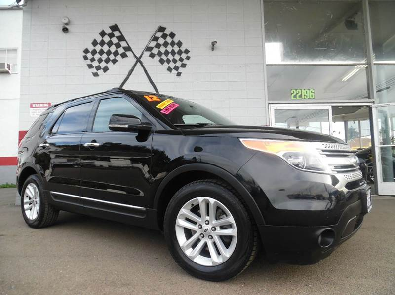2012 FORD EXPLORER XLT 4DR SUV black super clean ford explorer loaded with leather rear view cam