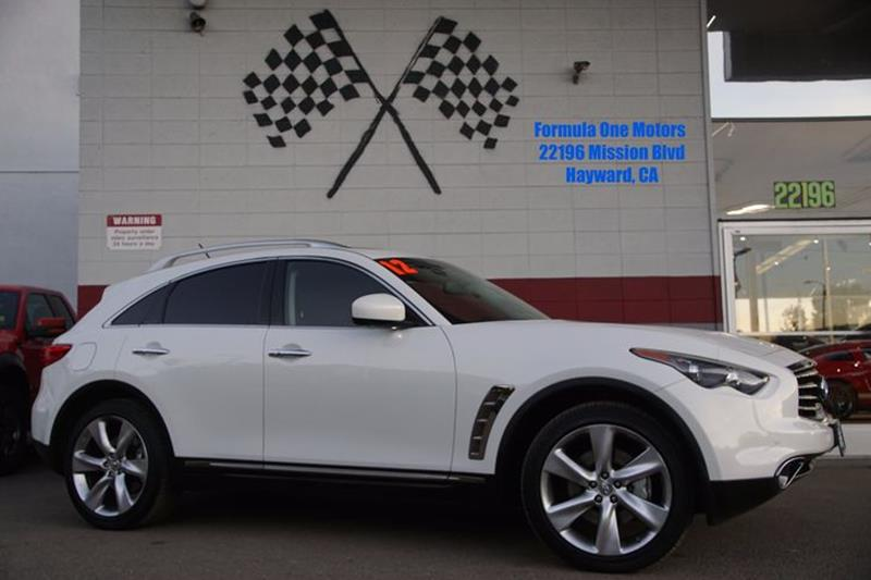 2012 INFINITI FX50 BASE AWD 4DR SUV moonlight white stunning from every angle with sports-car per