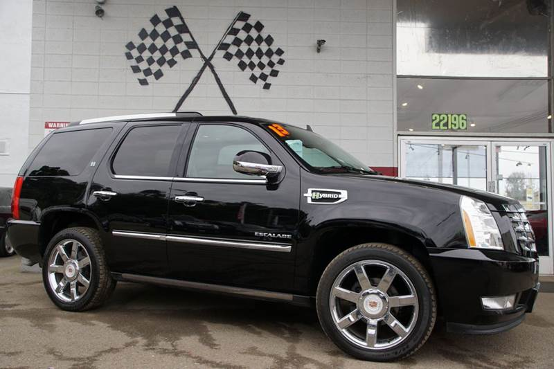 2013 CADILLAC ESCALADE HYBRID BASE 4DR SUV black ice metallic 2-stage unlocking doors abs - 4-wh