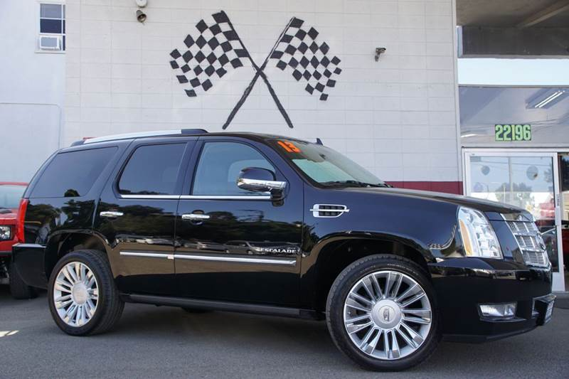 2013 CADILLAC ESCALADE PLATINUM EDITION AWD 4DR SUV black 2-stage unlocking doors 4wd type - ful