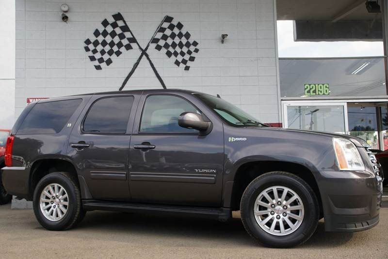 2011 GMC YUKON HYBRID 4X2 4DR SUV gray abs - 4-wheel adjustable pedals - power airbag deactivat