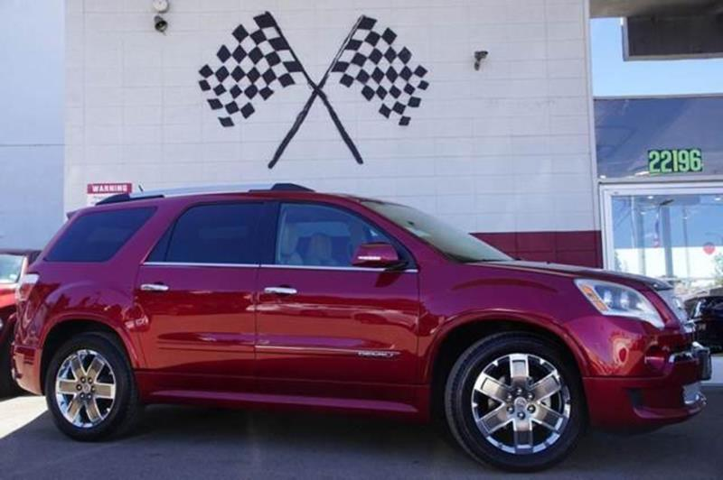2012 GMC ACADIA DENALI 4DR SUV crystal red tintcoat our 2012 gmc acadia denali fwd is shown in br