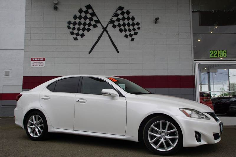 2012 LEXUS IS 250 BASE 4DR SEDAN 6A tungsten pearl 2-stage unlocking doors abs - 4-wheel air fi