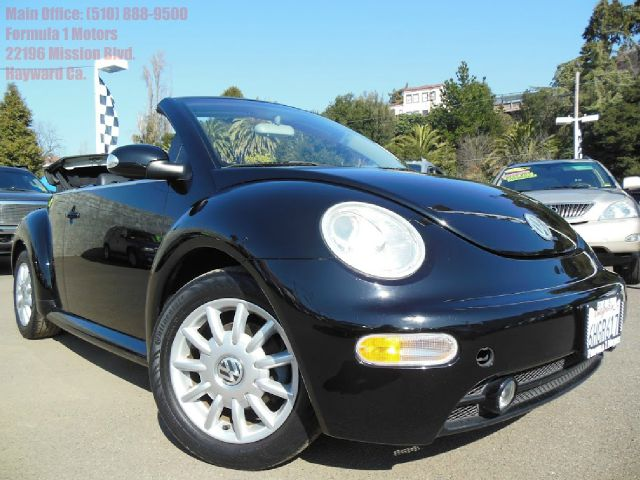2005 VOLKSWAGEN NEW BEETLE GLS 20L CONVERTIBLE black 20l automatic leather convertible 2 doo