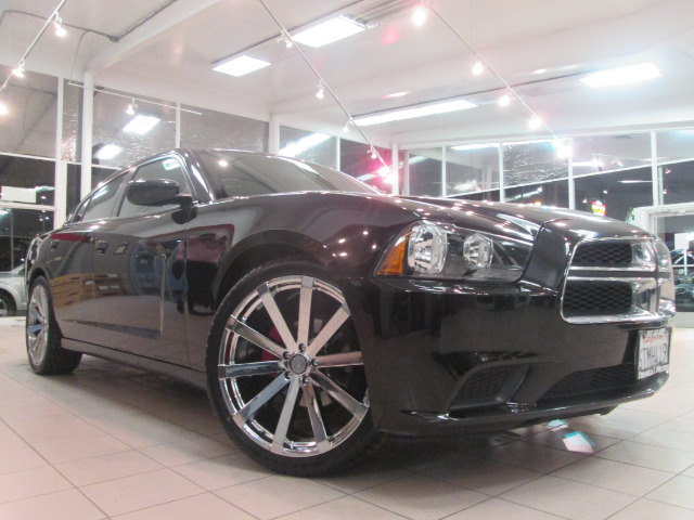 2012 DODGE CHARGER SE 22 WHEELS black brand new chrome 22 custom wheels  tires abs brakesair c