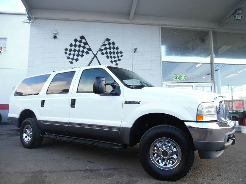 2003 FORD EXCURSION XLT 4DR 4WD SUV white excellent chrome wheels great space in the truck and