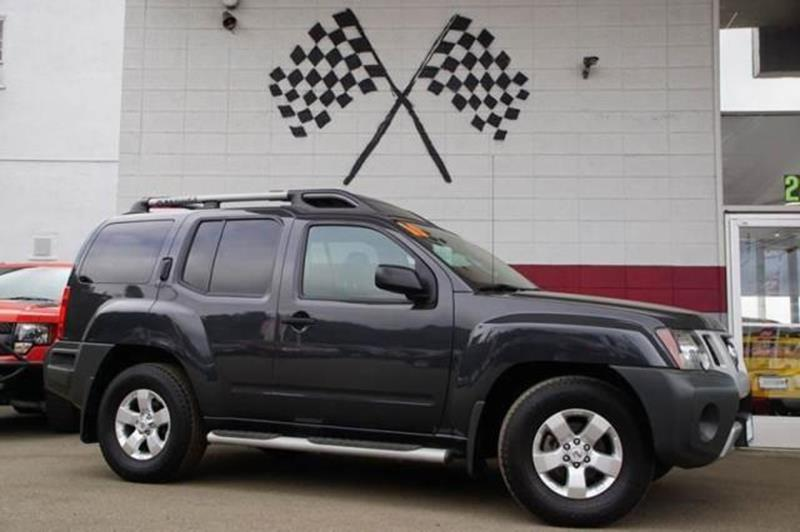 2010 NISSAN XTERRA S 4X2 4DR SUV night armor pearl our brawny 2010 nissan xterra s in black over