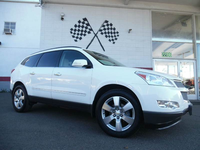 2012 CHEVROLET TRAVERSE LTZ AWD 4DR SUV white vin 1gnkvled4cj309676 this vehicle is in great cond