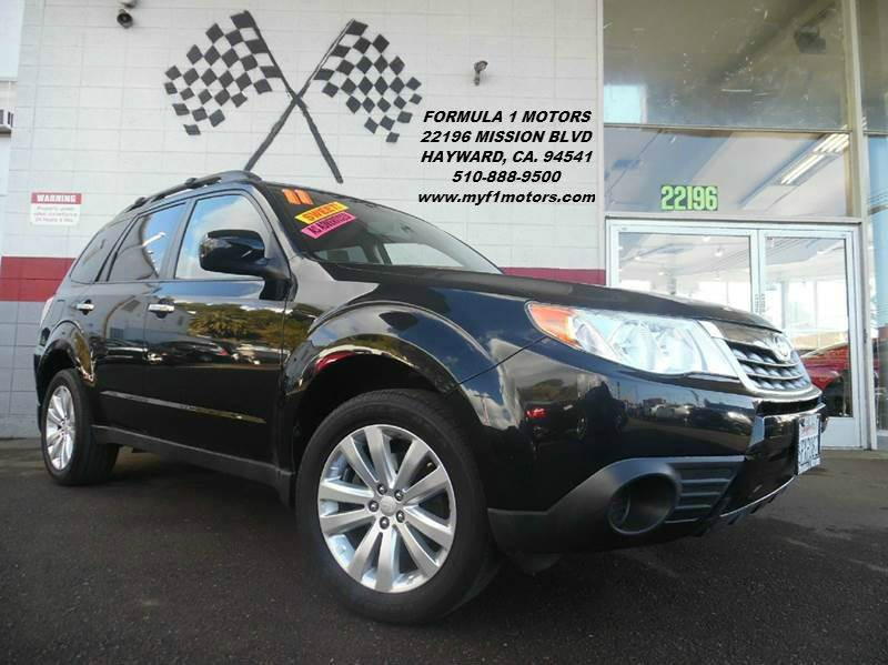 2011 SUBARU FORESTER 25X PREMIUM AWD 4DR WAGON 4A black this is a very nice sabaru forester in