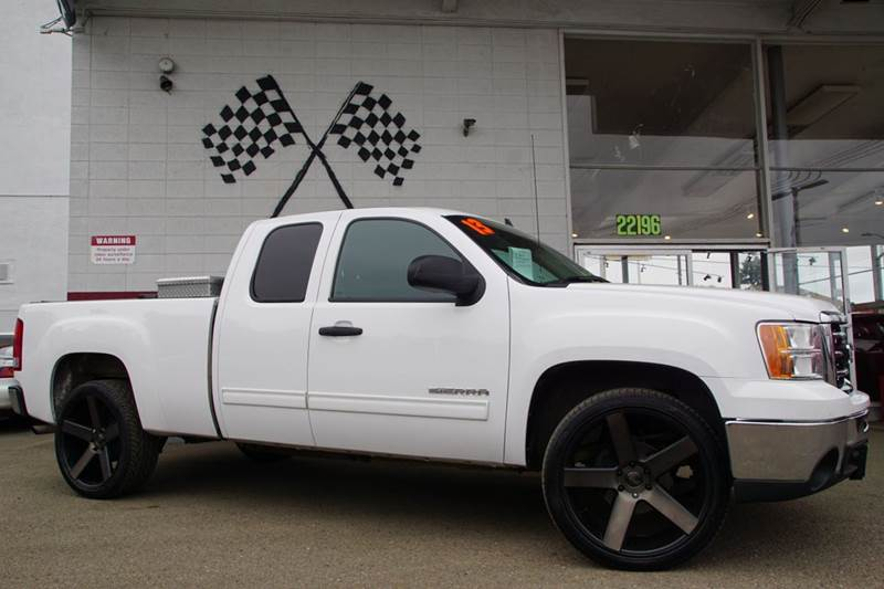 2013 GMC SIERRA 1500 SLE 4X2 4DR EXTENDED CAB 65 FT summit white abs - 4-wheel airbag deactiva