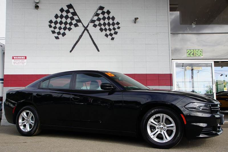 2015 DODGE CHARGER SE 4DR SEDAN pitch black 2-stage unlocking doors abs - 4-wheel active head r
