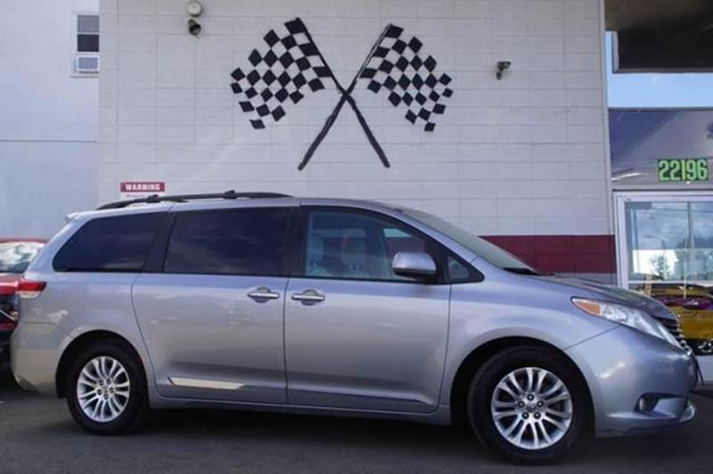2011 TOYOTA SIENNA XLE silver sky metallic this 2011 toyota sienna xle in grey over grey interior
