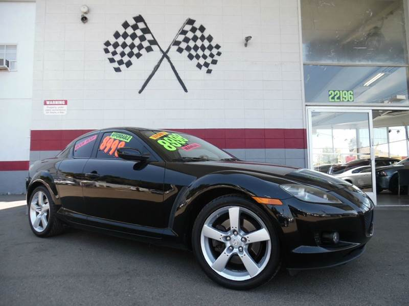 2004 MAZDA RX-8 4DR COUPE black super clean mazda rx-8  nice leather interior moon roof fun to