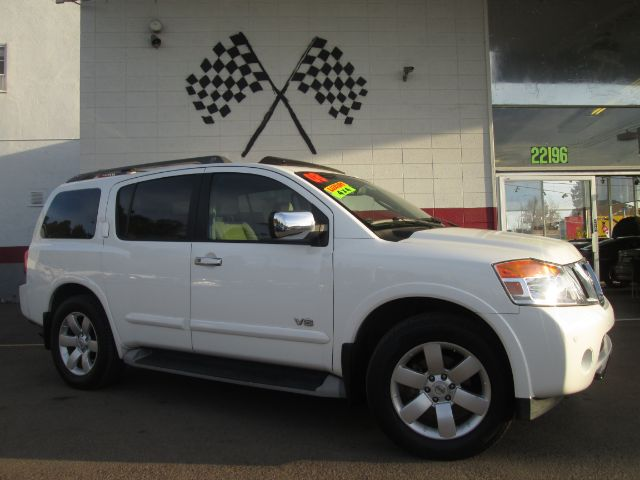 2008 NISSAN ARMADA LE 4X4 WAGON SUV white loaded - leather - moon roof - rear view camera - dvd -