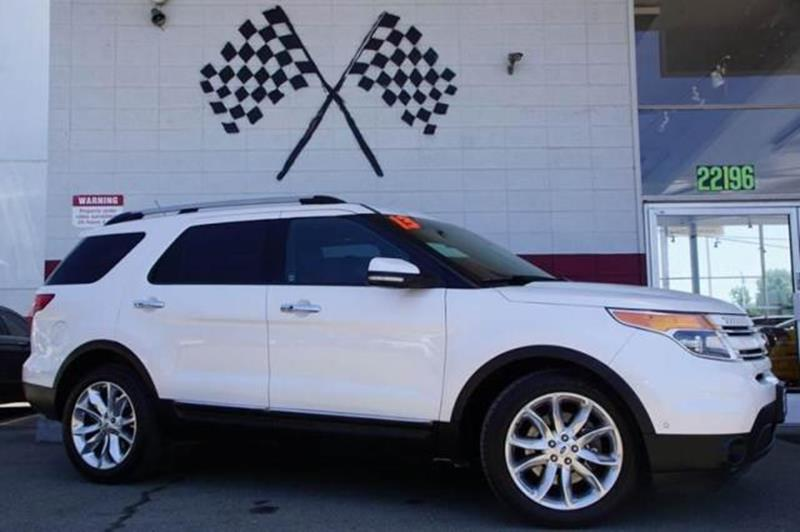 2013 FORD EXPLORER LIMITED 4DR SUV white platinum metallic tri-co experience superb driving pleas