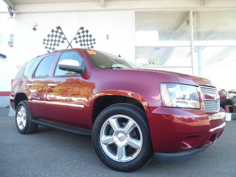 2010 CHEVROLET TAHOE LT 4X2 4DR SUV burgundy vin 1gnucbe04ar282466 tan interior leather dvd play