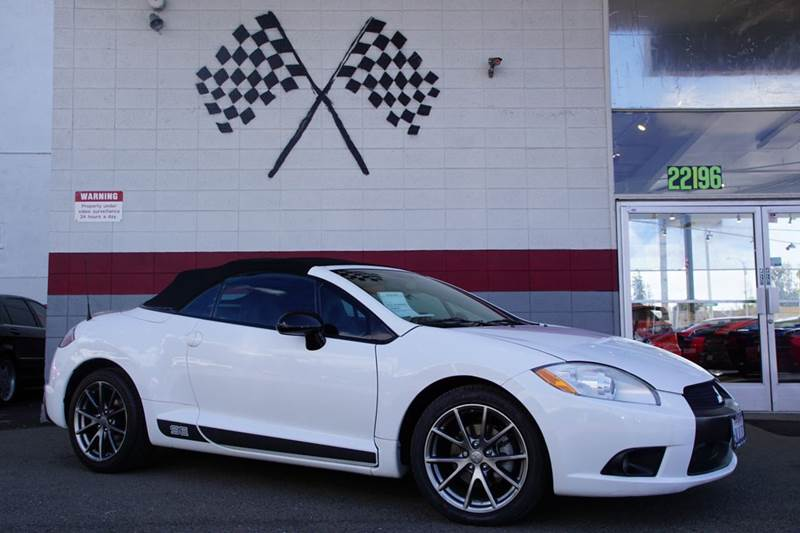 2012 MITSUBISHI ECLIPSE SPYDER SE 2DR CONVERTIBLE northstar white 2-stage unlocking doors abs -