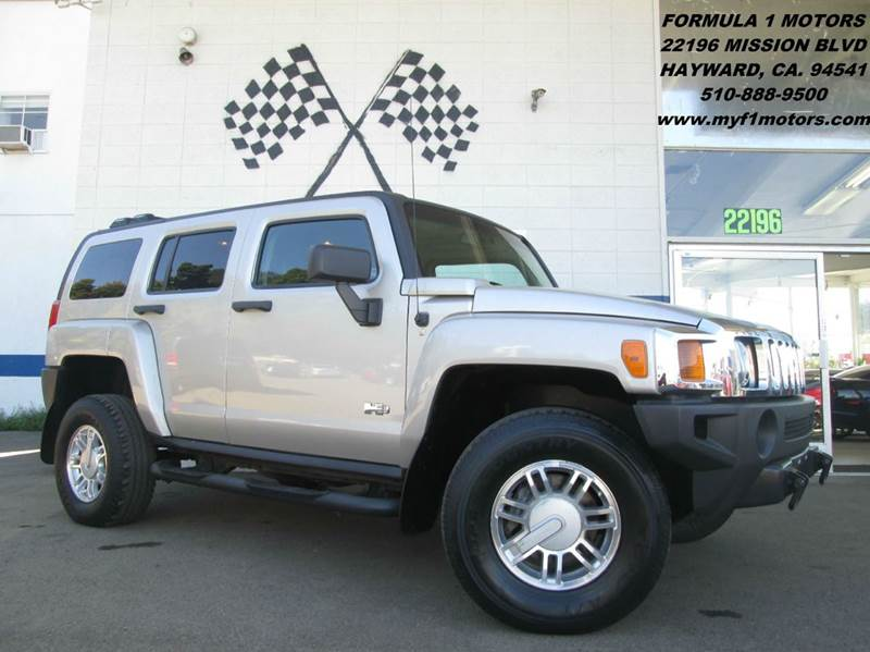 2007 HUMMER H3 4DR SUV 4WD silver super clean hummer h3 gorgeous black leather interior moon ro