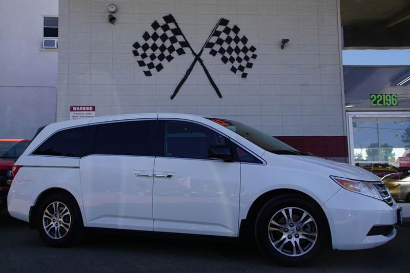 2012 HONDA ODYSSEY EX L 4DR MINI VAN taffeta white vin 5fnrl5h69cb122365 great gray leather inter