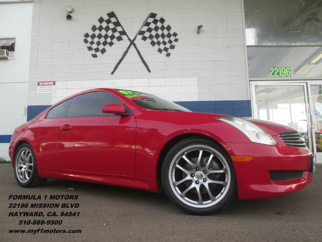 2007 INFINITI G35 COUPE 6MT red 6spd manual transmission  heated seats  clean carfax  bose soun