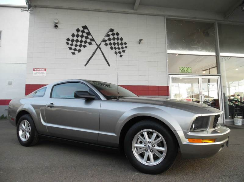 2008 FORD MUSTANG V6 DELUXE 2DR COUPE grey vin 1zvht80n785136819 great vehicle with only 53k mil