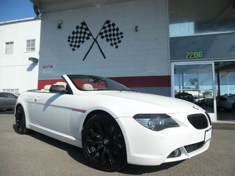 2007 BMW 6 SERIES 650I 2DR CONVERTIBLE white this unit is going to go fast this convertible bmw