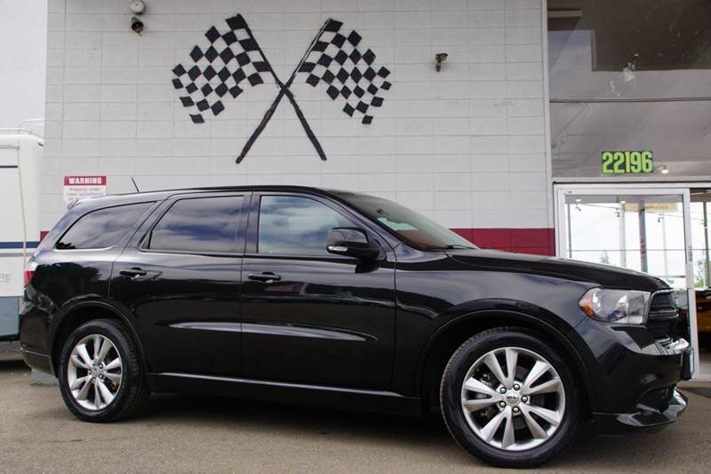 2012 DODGE DURANGO RT AWD 4DR SUV black 2-stage unlocking doors 4wd selector - electronic hi-lo