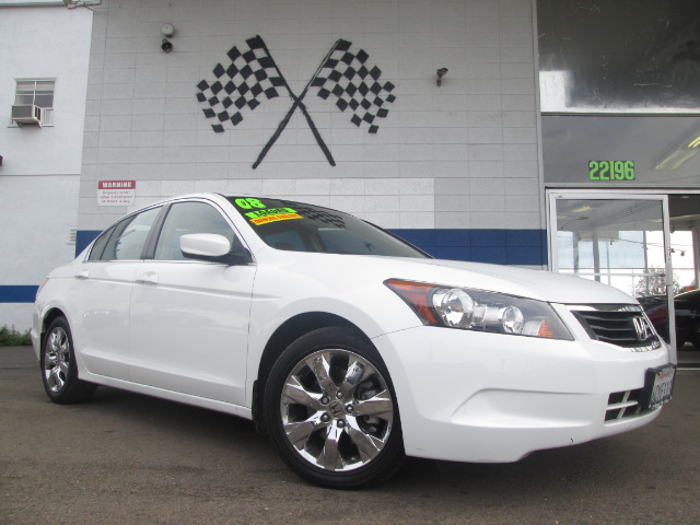 2008 HONDA ACCORD EX-L SEDAN AT white abs brakesair conditioningalloy wheelsamfm radioanti-br