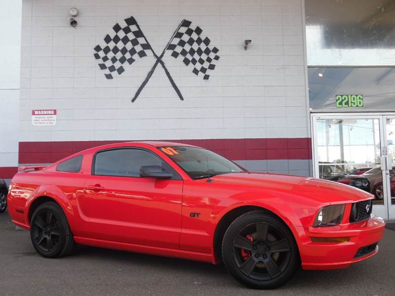 2007 FORD MUSTANG GT DELUXE 2DR COUPE torch red clearcoat abs - 4-wheel airbag deactivation - oc