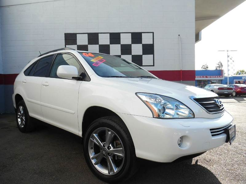 2006 LEXUS RX 400H BASE AWD 4DR SUV white great car with amazing handling has a moonroof and g