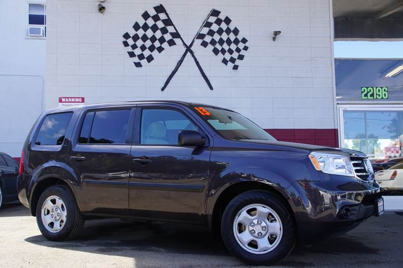 2013 HONDA PILOT LX 4X4 4DR SUV polished metal metallic 2-stage unlocking doors 4wd type - on de
