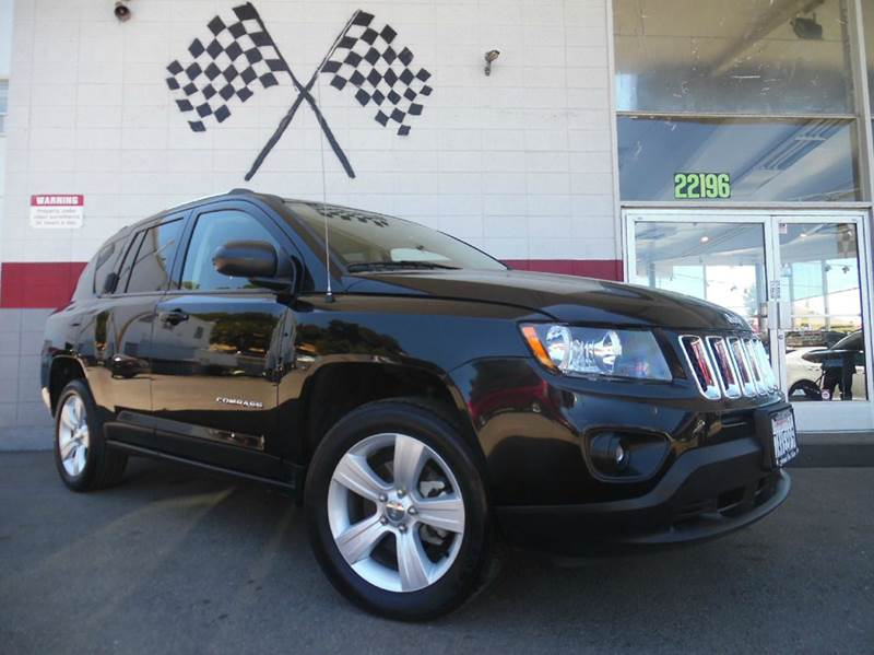 2014 JEEP COMPASS 4DR SUV black 2-stage unlocking doors abs - 4-wheel active head restraints -