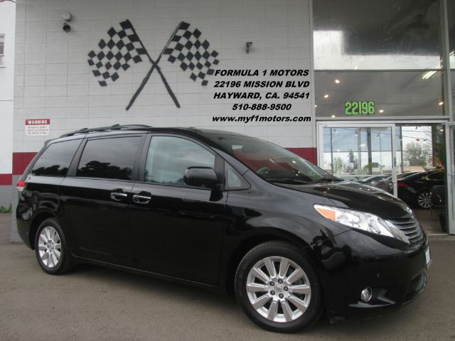 2012 TOYOTA SIENNA LIMITED 7-PASSENGER 4DR MINI VAN black fully loaded - dvd - leather - navig