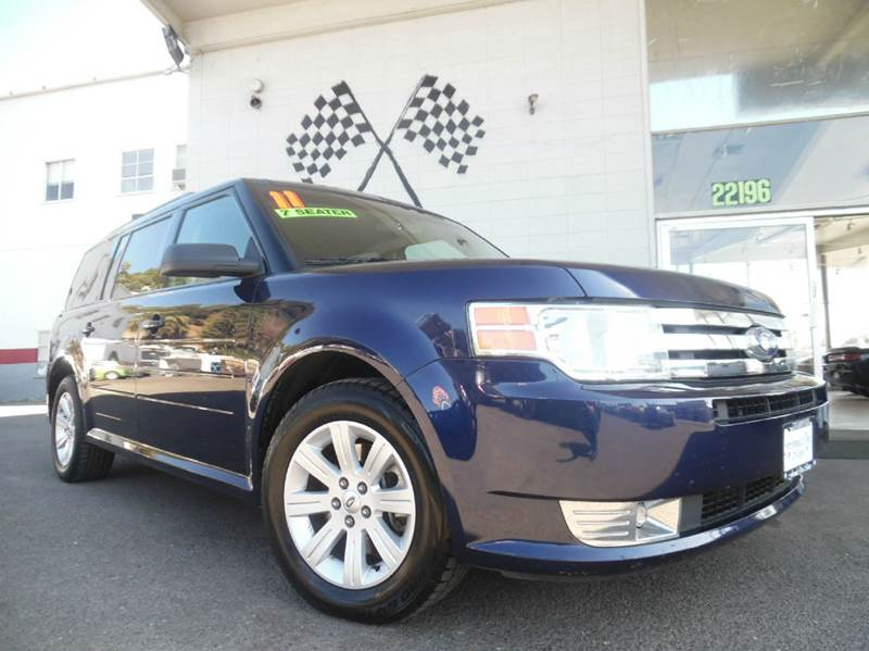 2011 FORD FLEX SE 4DR CROSSOVER blue vin 2fmgk5bc0bbd11938 great family car has tons of room