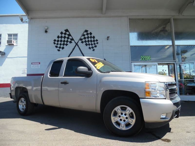 2007 CHEVROLET SILVERADO 1500 LT1 4DR EXTENDED CAB 4WD 65 FT grey 2-stage unlocking - remote 4