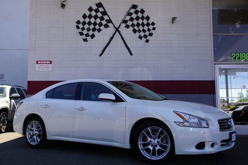2013 NISSAN MAXIMA 35 S 4DR SEDAN pearl white 2-stage unlocking doors abs - 4-wheel active hea