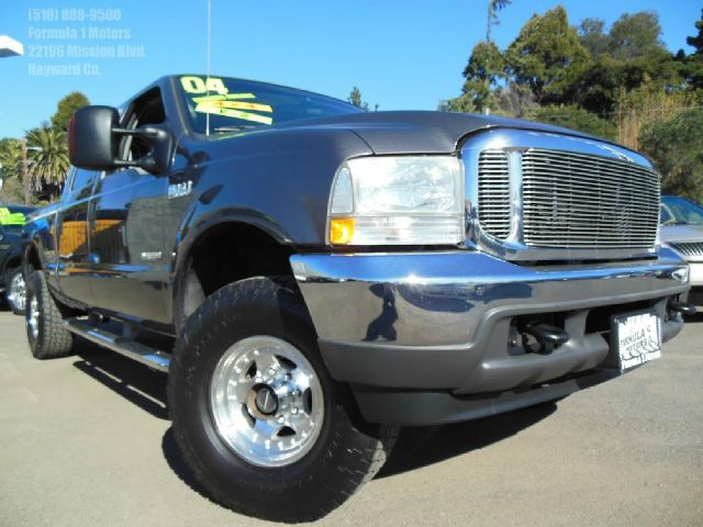 2004 FORD F250 XLT CREW CAB  4WD gray 60l v8 turbo diesel automatic xlt bed liner 4x4 tow pack