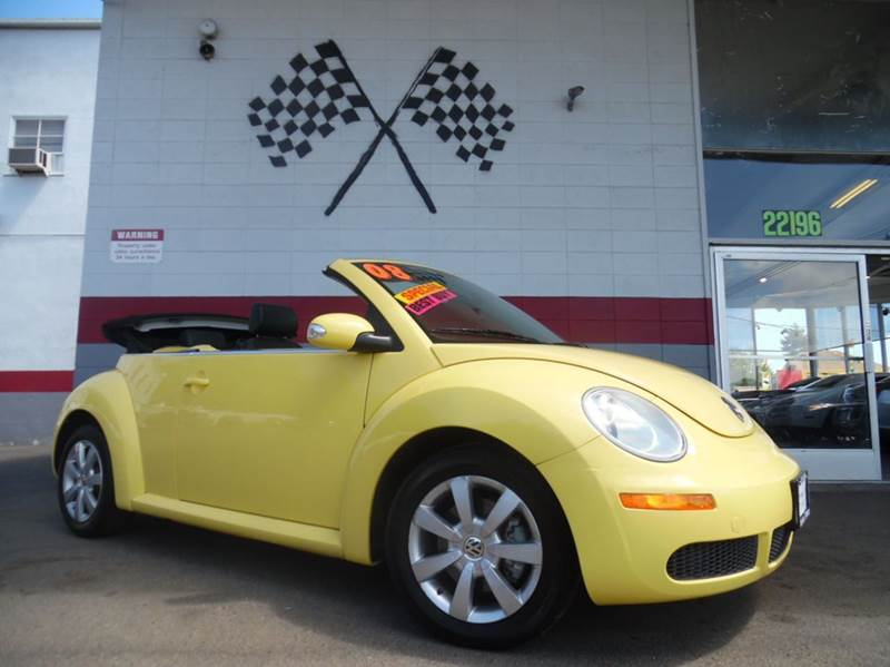 2008 VOLKSWAGEN NEW BEETLE S PZEV 2DR CONVERTIBLE 6A yellow 2-stage unlocking - remote abs - 4-w
